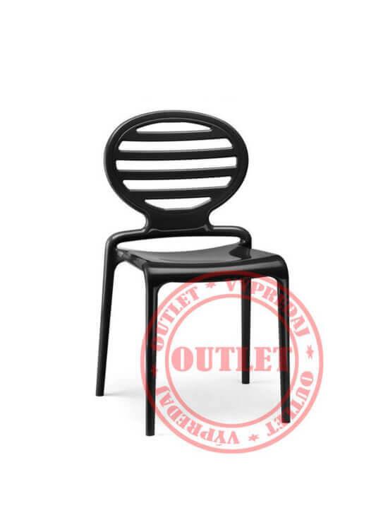 Scab Design TOP GIO stolička lesklá čierna