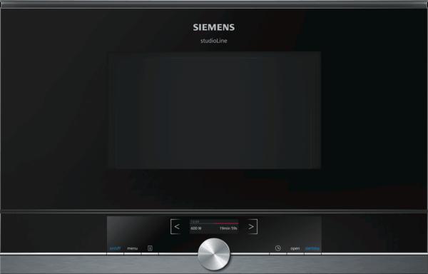 Zabudovateľná mikrovlnná rúra, SIEMENS iQ700 čierna BF834LGB1