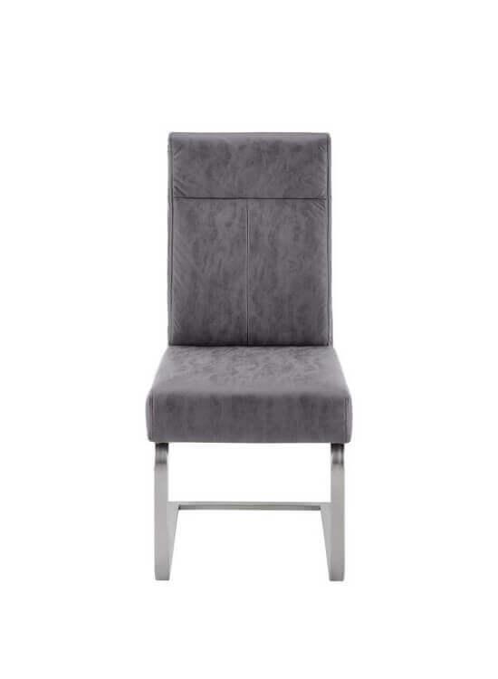 Stolička - fialovo šedá   chróm   koženka