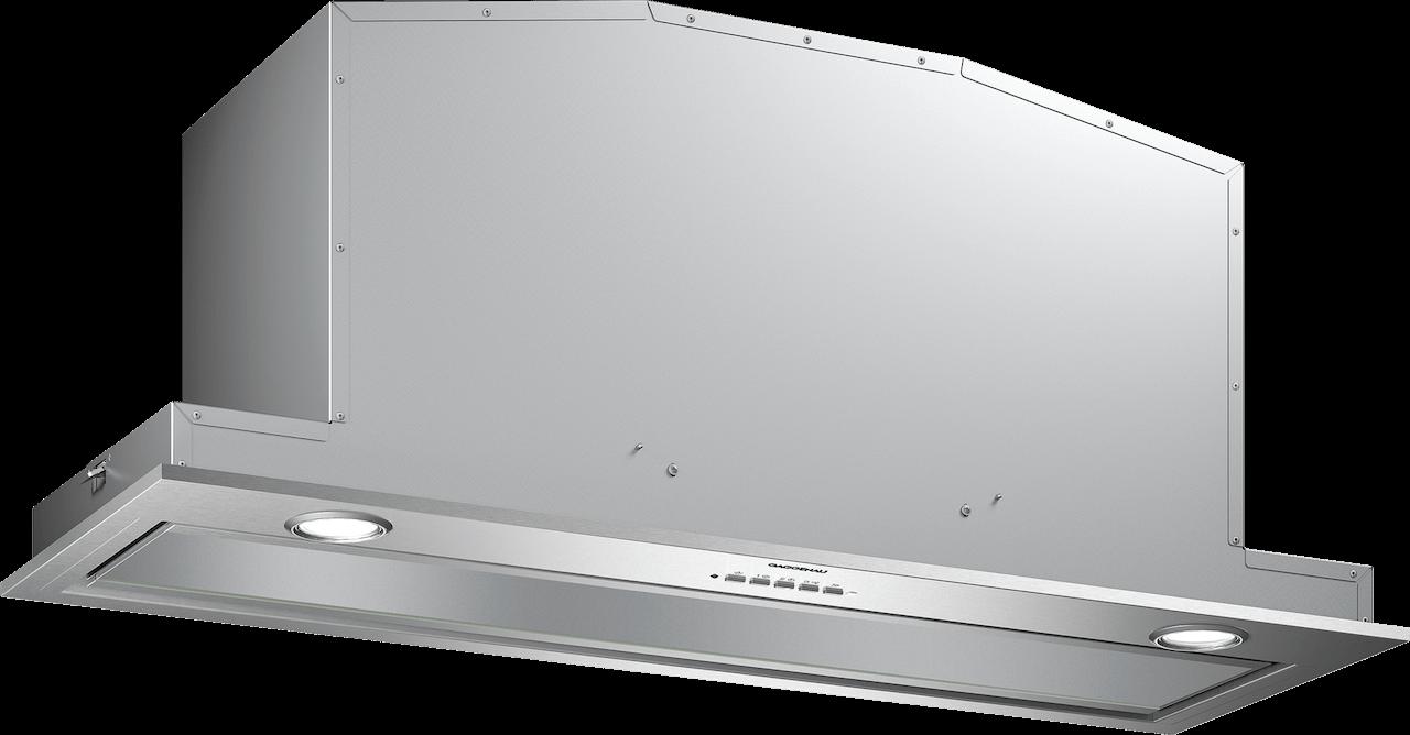Možno zabudovať neviditeľne do hornej skrinky Úsporný nízkošumový ventilátor Odsávanie okrajov pomocou plochého a ľahko čistiteľného skleneného krytu Stmievateľné neutrálne biele svetlo LED pre ideálne osvetlenie celej varnej dosky Odsávanie alebo recirkulácia vzduchu
