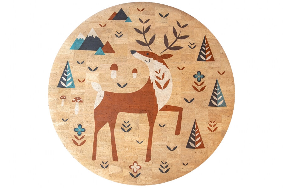 Detský korkový koberec Deer   130 cm
