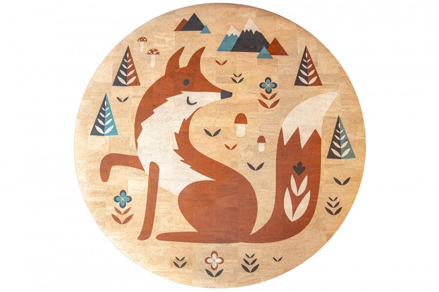 Detský korkový koberec Fox   130 cm