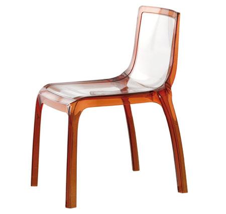 stolička Pedrali MISS YOU hnedá transparentná (outlet)